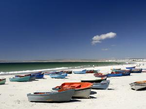 Beach and Fishing Boats, Paternoster, Western Cape, South Africa, Africa by Peter Groenendijk