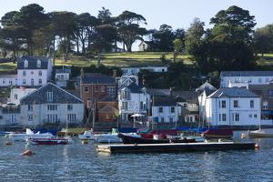 Fowey Harbour and Town, Cornwall, England, United Kingdom, Europe by Peter Groenendijk