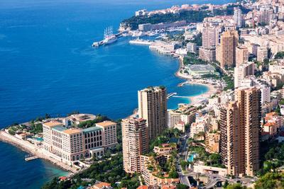 High Angle View, Monaco, Cote D'Azur, Mediterranean, Europe