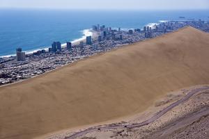 Iquique Town and Beach, Atacama Desert, Chile by Peter Groenendijk