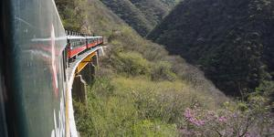 The El Chepe railway from Fuerte to Creel along the Copper canyon, Mexico, North America by Peter Groenendijk