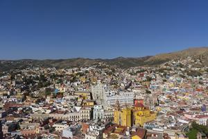 Town view from funicular, Guanajuato, UNESCO World Heritage Site, Mexico, North America by Peter Groenendijk