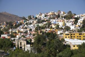 View from Templo de San Diego, distant view of the city, Guanajuato, Mexico, North America by Peter Groenendijk