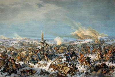 Crossing the Berezina River, Russia, 27 November 1812 by Peter Heinrich Lambert von Hess