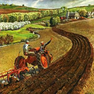"""""""Spring Plowing,""""May 1, 1945 by Peter Helck"""