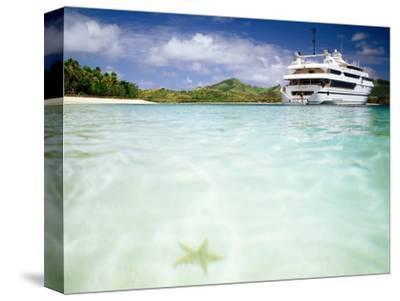 Blue Lagoon Cruises Ship and Starfish in Water, Fiji