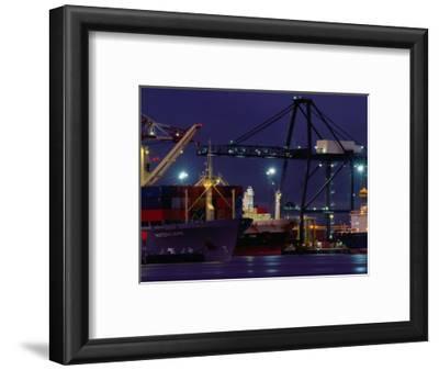 Container Ships, Melbourne Docks, Melbourne, Australia
