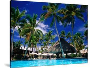 Hotel Pool and Palm Trees, Fiji by Peter Hendrie