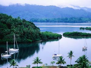 Overhead of Yachts in Savu Bay, Fiji by Peter Hendrie