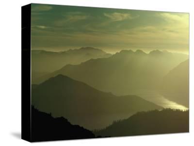 Soft Light Over Mountains and Lake Pedder, Lake Pedder, Australia