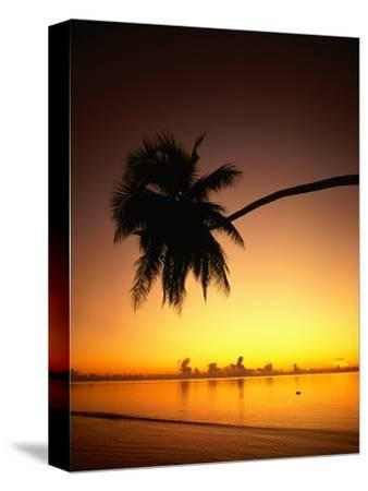 Sunset Over Aitutaki Lagoon, Aitutaki, Southern Group, Cook Islands