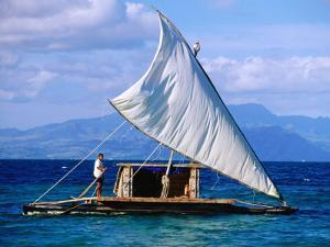 Traditional Sailing Craft, Fiji by Peter Hendrie