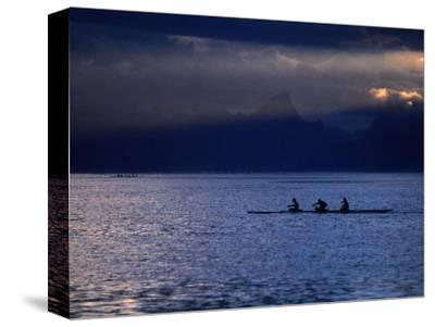Vaa (Outrigger Canoe) Travelling, French Polynesia