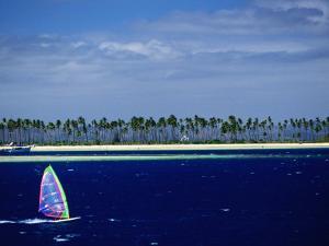Windsurfer, Plantation Island, Fiji by Peter Hendrie