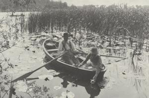 Gathering Water-Lilies (Collection of Water Lilies) by Peter Henry Emerson