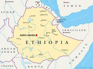 Ethiopia Political Map by Peter Hermes Furian