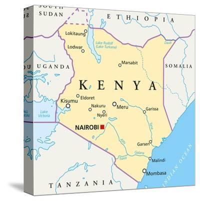 Kenya Political Map by Peter Hermes Furian