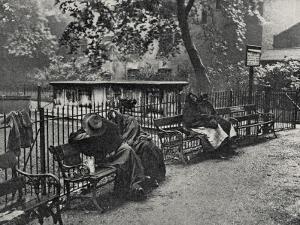 Women Vagrants Sleeping, Spitalfields, East End of London by Peter Higginbotham