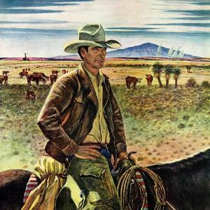 """""""Cattleman,""""June 1, 1946 by Peter Hurd"""