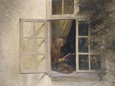 A Girl Reading in a Window