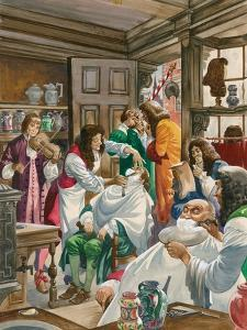 A Busy Barber-Surgeon's Shop by Peter Jackson