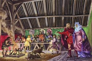 Anglo-Saxon Thane Leads His Wife into the Great Hall by Peter Jackson