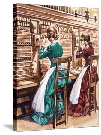 Communication One Hundred Years Ago. the London Telephone Exchange