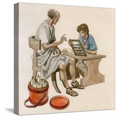 Julius Caesar as a Boy, Learning to Count Using an Abacus