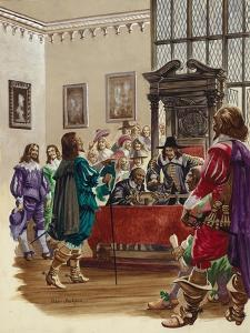 King Charles I Arrives in the House of Commons to Arrest the Five Members of Parliament by Peter Jackson