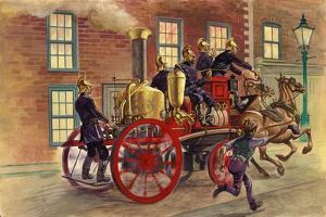 London Fire Engine of C 1860 by Peter Jackson