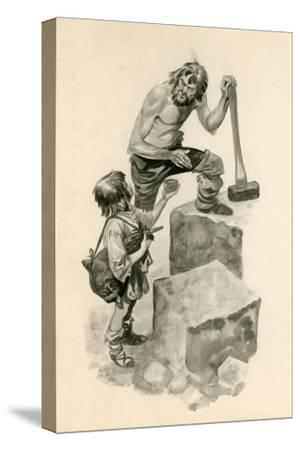 Michelangelo, as a Boy, Helping Stone-Cutters at their Work