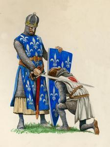 Prince Richard, the Future Richard the Lionheart, Being Knighted by King Louis of France by Peter Jackson