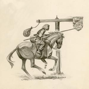 Prince Richard, the Future Richard the Lionheart, Practising at the Quintain by Peter Jackson