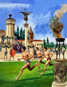 The First Olympic Games, from 'The History If Our Wonderful World', 1967 by Peter Jackson
