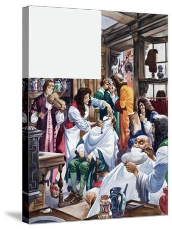 The Wonderful Story of Britain: A Busy Barber-Surgeon's Shop