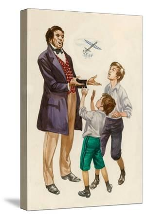 The Wright Brothers as Boys, Given a Toy Plane by their Father