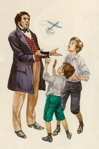 The Wright Brothers as Boys, Given a Toy Plane by their Father by Peter Jackson