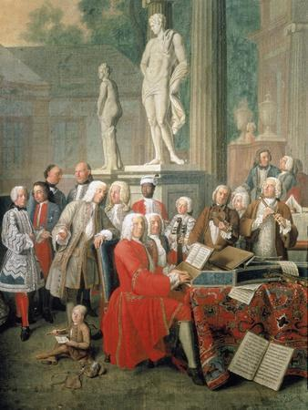 Court concert, Ismaning (Detail, see also Image ID 2256). 1733