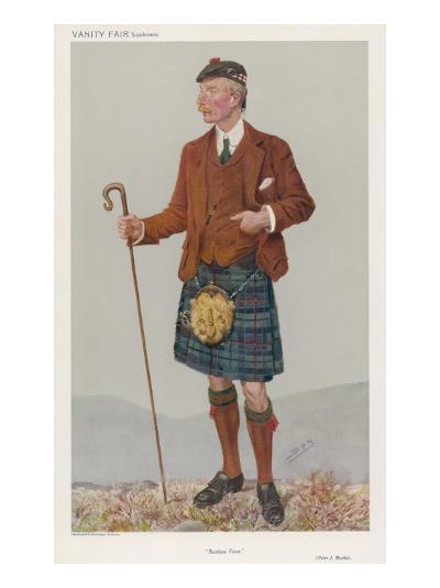 Peter Jeffrey Mackie Out Walking in the Mountains in His Kilt--Giclee Print
