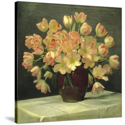 Vase of Red Flowers Christine Stewart Art Print 24x30