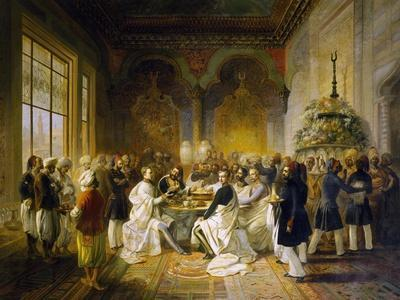 Maximilian of Habsburg and His Brother Carlo Ludovico Guests at Banquet Given in Smyrna, 1850