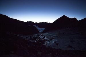 Mountain Landscape at Sunrise, Switzerland, Outdoors by Peter Kreil