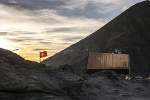 Protective Hut with Swiss Flag, Tracuit, Glacier, Building, Mountain, Switzerland, Alps by Peter Kreil