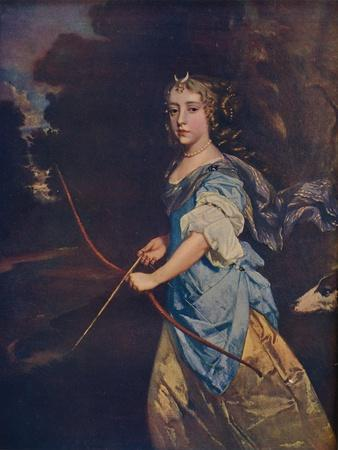 'Madame Jane Kelleway as Diana, 17th century, (1910)