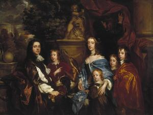 Sir Edward Hales and His Family, 1656 by Peter Lely