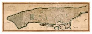 New York and the Island of Manhattan, 1812 by Peter Maverick