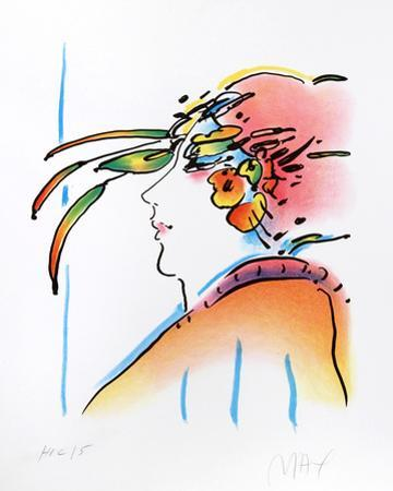 Lady with Feathers by Peter Max