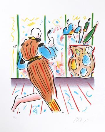 Monk and Vase by Peter Max