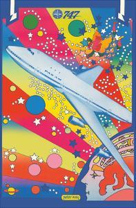 Pan American World Airways - Boeing 747 - Pop Art by Peter Max