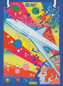 Pan American World Airways - Boeing 747 - Pop Art by Peter Max